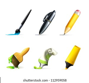 Writing tools, vector set