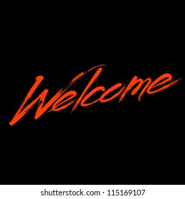"Writing ""Welcome"""