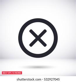 Wrong mark . line vector icon