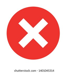 Wrong mark vector icon. Reject button filled flat sign for mobile concept and web design. Cross sign glyph icon. Symbol, Delete sign icon. Remove button