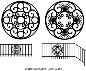 Wrought iron decoration in the set