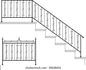 wrought iron stairs, gate design