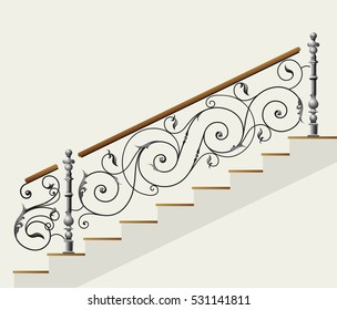 wrought stairs iron
