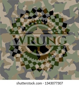 Wrung on camo pattern