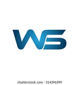 WS company linked letter logo
