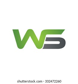 WS company linked letter logo green