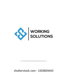 WS Initial Icon Vector Logo