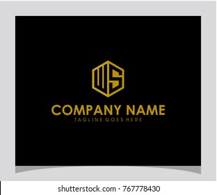 WS initial letter logo design