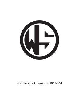 WS initial letters circle monogram logo