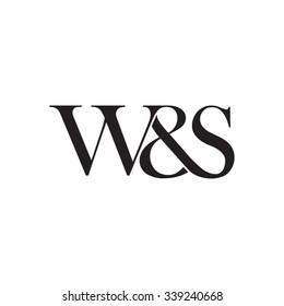 W&S Initial logo. Ampersand monogram logo