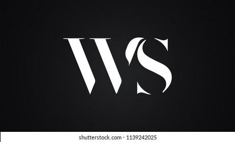 WS Letter Logo Design Template Vector