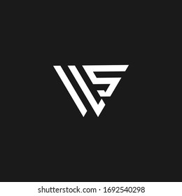 ws letter vector logo abstract