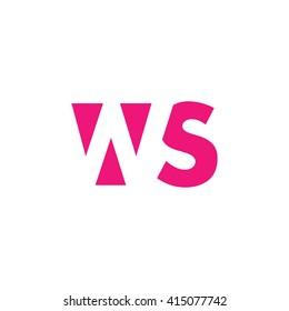 WS Logo. Vector Graphic Branding Letter Element. White Background