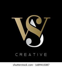 ws luxury logo design vector icon symbol