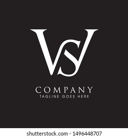 WS monogram logo. letter based vector