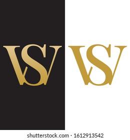 WS SW W S letter logo design vector