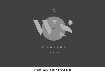 ws w s  grey modern stylish alphabet dot dots eps company letter logo design vector icon template
