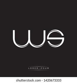 ws w s Logo Initial Letter Split Lowercase Modern Monogram Template Design
