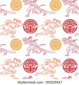 wushu girls pattern