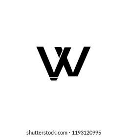 WV VV logo vector logo