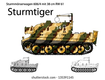 WW2 German Sturmtiger self propelled heavy assault gun