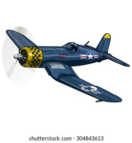 WW2 warbird colors vector illustration