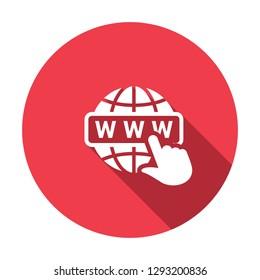 Www icon. Www flat icon Web site sign. Icon, page, web, internet, www, access, address, black, blog, browser, button