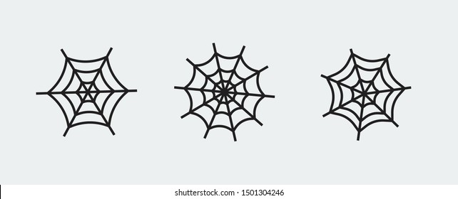 www, internet conection icons. vector illustration, logo spiderweb template.