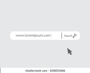 www search bar icon isolated on white background. www search bar icon for web site, app, ui and logo. Creative art concept, vector illustration, eps 10