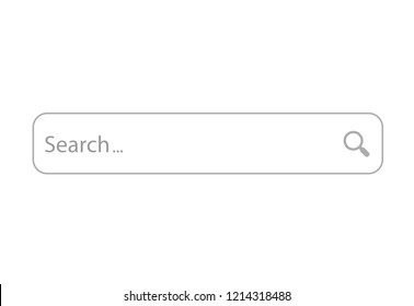www search bar icon isolated on white background. www search bar icon for web site template, app, ui and logo. Creative business concept, vector illustration, eps 10