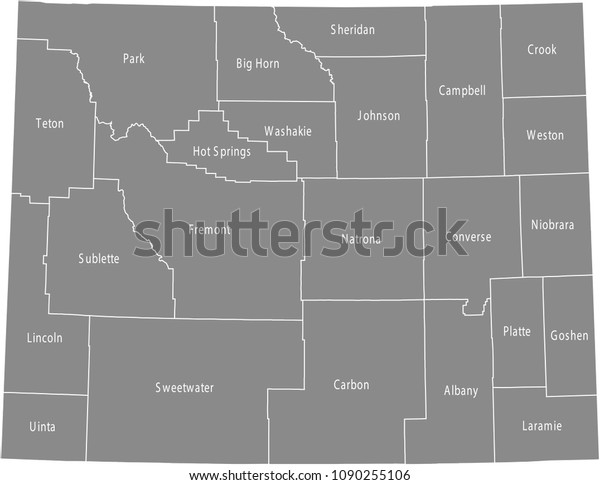 Wyoming County Map Vector Outline Gray Stock Vector (Royalty ... on usa national map, usa tourist destinations map, usa lakes map, usa transportation map, usa florida map, usa towns map, usa colleges map, usa metro areas map, usa education map, usa city map, usa school map, usa history map, usa streams map, usa county map outline, usa states map, interactive us county map, usa country map, usa districts map, usa statehood map, usa military map,