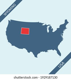 Wyoming location on USA map