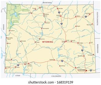 Vector Map Wyoming Stock Vectors, Images & Vector Art ...