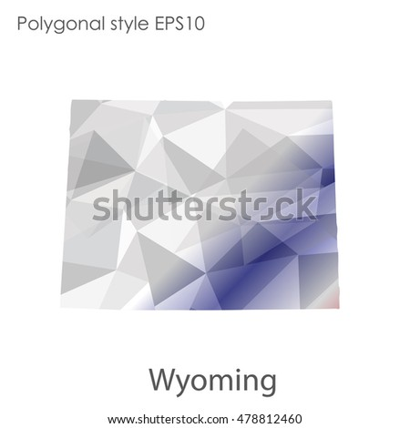 Wyoming State Map Geometric Polygonal Style Abstract Stock ...