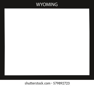 Wyoming USA Map black inverted silhouette