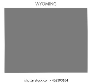 Wyoming USA Map in grey