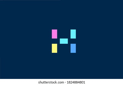 X alphabet letter logo icon in colorful geometric lines. Simple and creative colored design for company and business