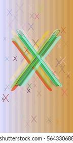 X Alphabet template idea
