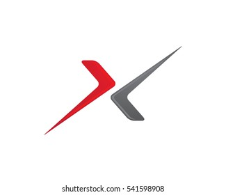 X Arrows Letter Logo Template