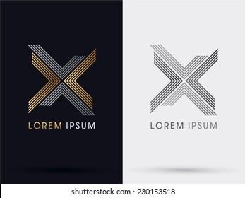 X Cross abstract logo vector.