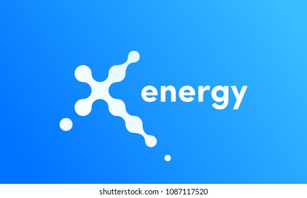 X energy vector logo icon for technology innovations or sport