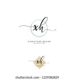 X H XH Initial logo template vector