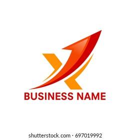 X initial Business logo vector illustration