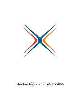 X letter initial icon logo design vector illustration template