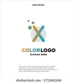 X letter logo, business logo design, vector icon.