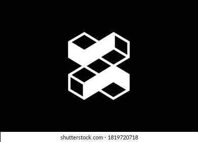 X letter logo design on luxury background. XX monogram initials letter logo concept. 3D X icon design. XX elegant and Professional white color letter icon design on black background.  X XX