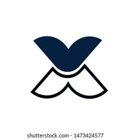 x  letter logo design vector
