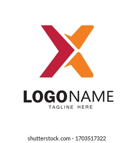 X letter Logo design & vector art