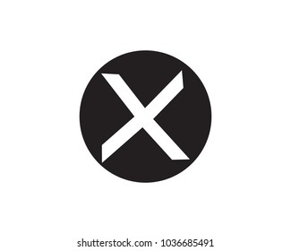 X logo business template vector icons