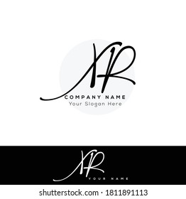 X R XR Initial based logo Letter Symbol Modern and abstract icon design concept. Initial based Vector template. Symbol for Corporate Business Company Identity.
